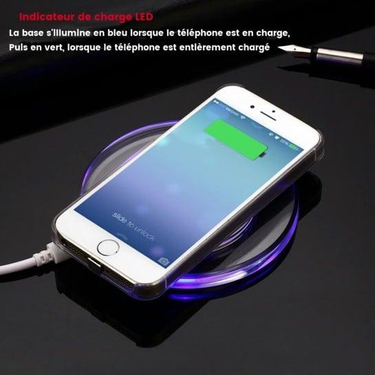 socle de charge sans fil iphone induction chargeur qi iphone. Black Bedroom Furniture Sets. Home Design Ideas