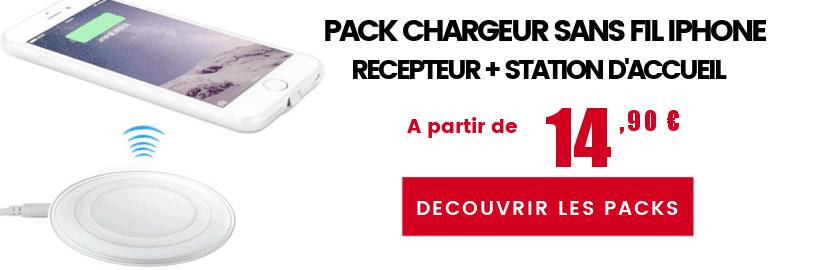 Pack chargeur sans fil iphone