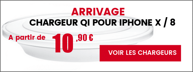 arrivage chargeur sans fil iPhone X 8