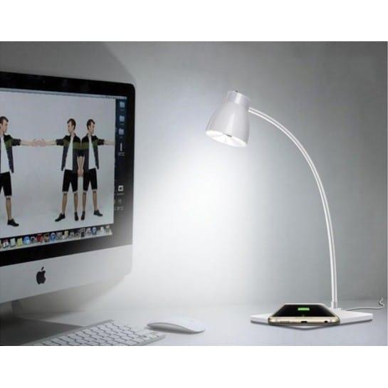 Chargeur sans fil iphone qi lampe de bureau chargeur induction - Lampe de bureau sans fil ...