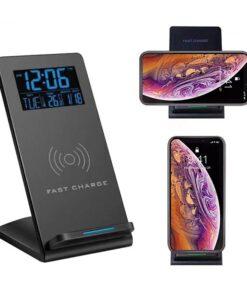 Horloge de bureau chargeur sans fil multifonctionnel