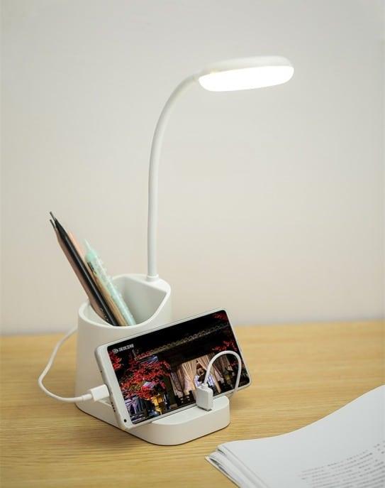 Lampe de bureau avec ports usb